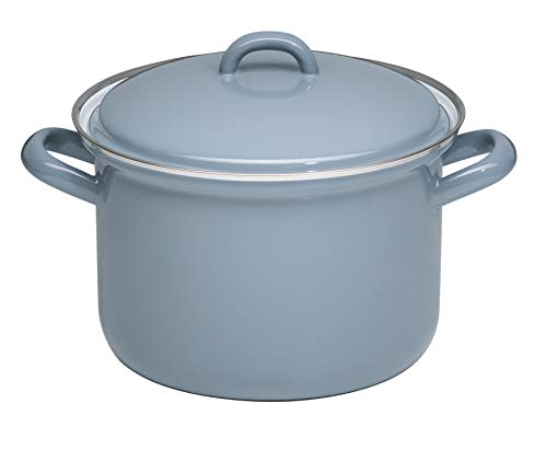 Generisch Riess Classic Pure Grey 0124-065 Casserole Pot with Lid 20 cm Diameter 3.5 Litres Height 18.2 cm Enamel Light Grey 1.584 kg 27.6 x 21.7 x 18.2 cm