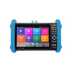 M-IPC-600A 7 Analoge IP-camera tester DECOM, 7 inch IPS touch screen, 1280 x 800 resolutie, test en display analoge camera en IP-camera, ondersteuning onvif, H.265, H.264, 4K video display, HDMI output, RJ45 kabel TDR test, PoE output, 7.4V DC 5000mAh lithium polymeer batterij, werkt voor 10 uur, etc.