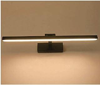 XIAJIA-9W/40cm lumière LED salle de bains, ,Lampe Armoire miroir,Réglable Angle Applique Lampe,AC85-265V,6000K (Noir/blanc...