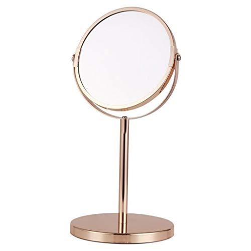 LYN Miroir Maquillage, Miroir de Maquillage Double Face Miroir de Table de loupe Miroir Rond Miroir de Bureau Rotatif