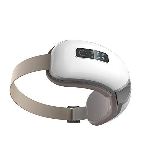 NCBH Masajeador de Ojos Inteligente antienvejecimiento, máscara de Ojo Digital inalámbrica con compresor de Calor, batería incorporada y Banda Ajustable - Masaje de vibración a presión de Aire