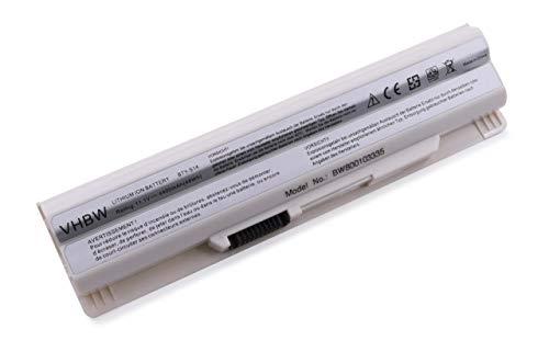 Batterie Li-ION 4400mAh 11.1V Blanche pour MEDION Akoya Mini E1311 & MSI, remplace Les modèles 40029150, 40029231, 40029683, BTY-S14, BTY-S15