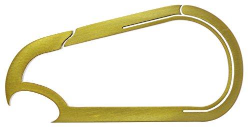 Bico KeyKlipz Flaschenöffner/Schlüsselring/Karabiner aus Titan,Steinoptik (KR20B), Metall, gold