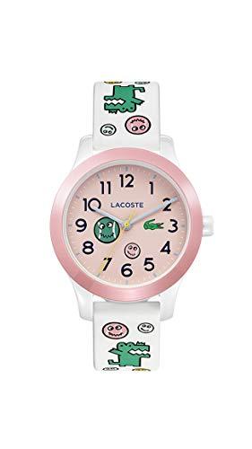 Lacoste 2030031 - Reloj de cuarzo con correa de silicona, color blanco, 14