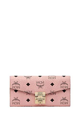 MCM Damen Geldbörse Patricia Visetos Powder Pink