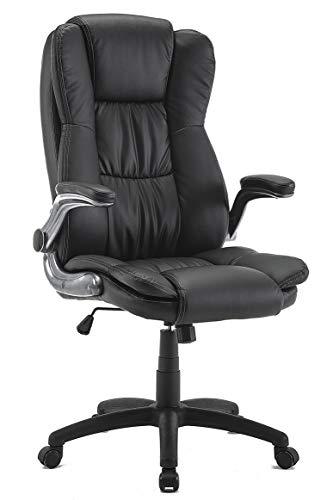 IntimaTe WM Heart Sedia da Ufficio ergonomica con braccioli Pieghevoli Poltrona Ufficio Sedia con Ruote Sedia da scrivania Altezza Regolabile sedie Ufficio Nero