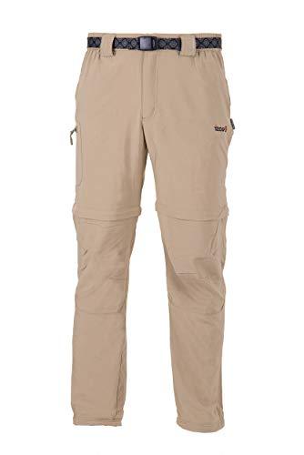 Izas Biasi Pantalones Técnicos Desmontables, Hombre, Beige, XL