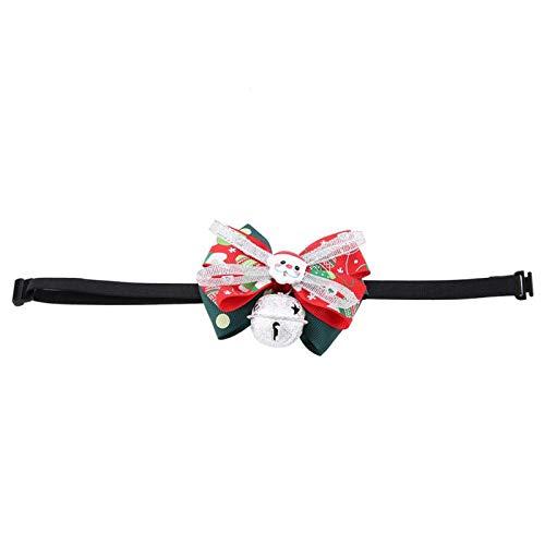 Haustierhalsband, Handgemachter Schleifenknoten Stilvolle Polyester einziehbare Fliege Haustierhalsband mit Glocke, Hunde für Haustiere Katzen Tiere