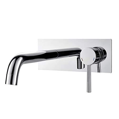 Baño Grifería de Lavabo Válvula de Agua mezclada Lavabo Simple Cobre fría...