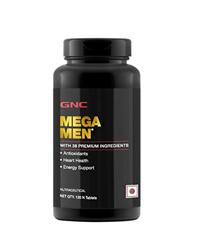 GNC Mega Men Multivitamin for Immunity, Heart Health, Energy & Muscle Function - 120 Tablets