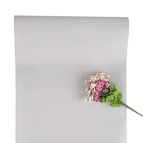 Graue Tapete Selbstklebende Tapete Graue Entfernbare Tapete Tapeten Abziehen und Aufkleben Kontakt Papier für Wohnzimmer Schlafzimmer Küche und Schranktür Regal 40 x 500cm