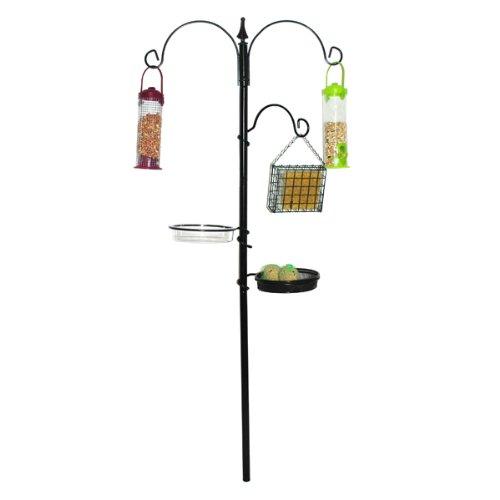 Unibos Wild bird feeding station garden hanging water bath table seed tray feeder hooks