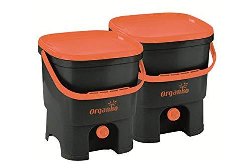 Buy Bargain Bokashi Organico & Activator 019750004 Composter 2 x 16 L Black/Orange/Black/Orange