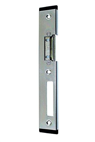 Elektrischer T/ür/öffner PESO 300 GA mit Flachschlie/ßblech und Entriegelungshebel 6 bis 12 Volt AC//DC