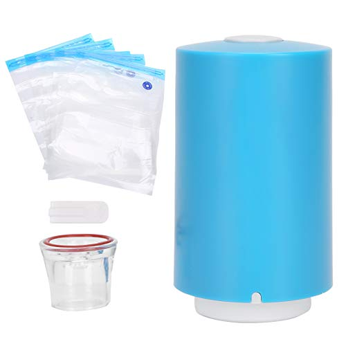 Germerse Mini Bomba de vacío, sellador al vacío eléctrico portátil de Tela para Alimentos de operación automática para Viajes domésticos
