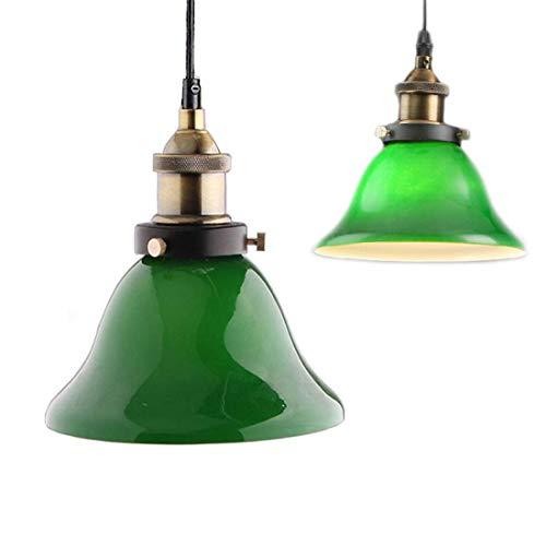 Green vidrio colgantes luz, Creative Industrial Edison Vintage estilo iluminacion casera restaurante dormitorio sala de estar retro cristal verde esmeralda techo luz