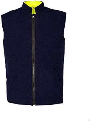 Style Spot Hi Viz Vis Fleece Lined Waterproof Reversible Body Warmer High Visibility Reflective Stripe Waistcoat Sleeveless Jacket