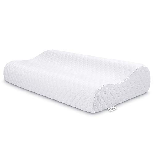 Misiki Contour Pillow Cervical Pillow for Neck Pain Orthopedic Pillow Memory Foam Pillow for Side Sleeping Neck Support Pillows for Neck and Shoulder Pain Soft Ergonomic Pillow for Back Sleeper
