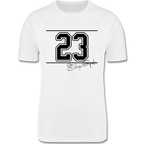 Sport Kind - College Sports Zahl Oldschool - 164 (14/15 Jahre) - Weiß - Trikot - F350K - atmungsaktives Laufshirt/Funktionsshirt für Mädchen und Jungen