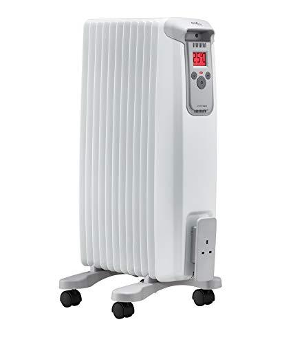 EvoRad EvoRad 15 W, mobiele verwarming met wieltjes, elektrische verwarming met kleurendisplay, stille werking, geschikt voor woon- en slaapkamer, 1500 W