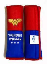 Fundas para cinturón de seguridad Wonder Woman (par) de tela de alta calidad ajuste universal