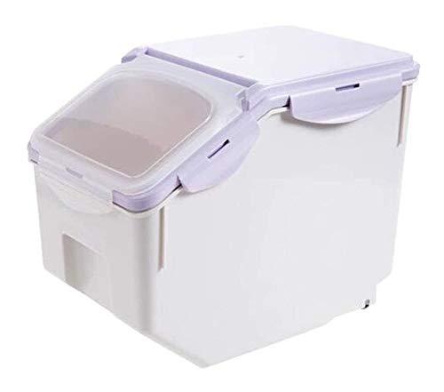 Tarros cocina Cereales recipientes con tapa de sello a prueba de humedad del grano de cocina contenedor de almacenamiento de harina cubo de plástico de 10 kg de arroz Caja de almacenamiento botes cris