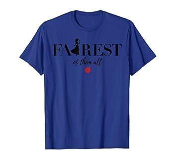 Disney Snow White Fairest Silhouette Text Graphic T-Shirt