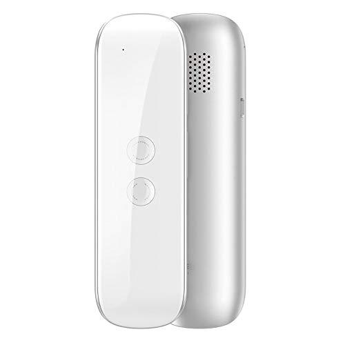 lonelymen Tragbares Smart Voice Translator-Gerät, Übersetzung MUAMA Enence Smart Instant Echtzeit-Voice 40 + Sprachen Übersetzer, Reisen, Geschäftstreffen,White