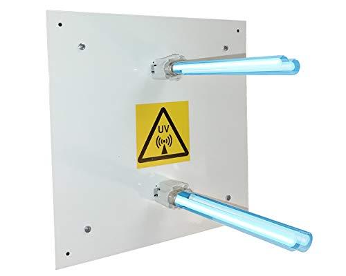 JD-AIRE 2x13w Purificador de aire de luz ultravioleta germicida para aire acondicionado AC por conductos en viviendas y locales comerciales. Desinfección Ultravioleta UVC virus y bacterias.
