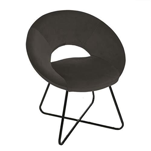 Home Gadgets Chair Chair Velvet Grey 80 cm