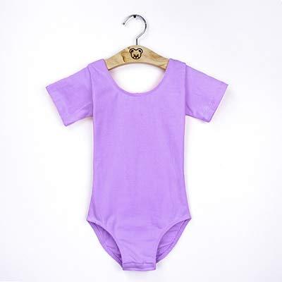 GOP Store Black Girls s Gymnastics Leotard Cotton Spandex Ballet Leotards Short Sleeve Ballet Clothes Dancewear