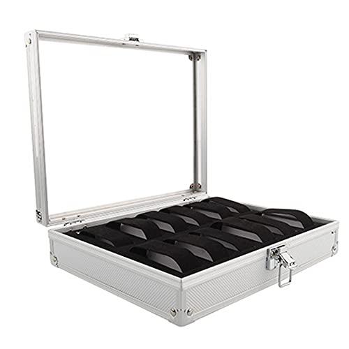 Kuingbhn Caja de almacenamiento de gafas Caja de almacenamiento de reloj Caja de almacenamiento de plástico de aluminio Caja de reloj rectangular Organizador de reloj Caja de regalo para gafas de sol