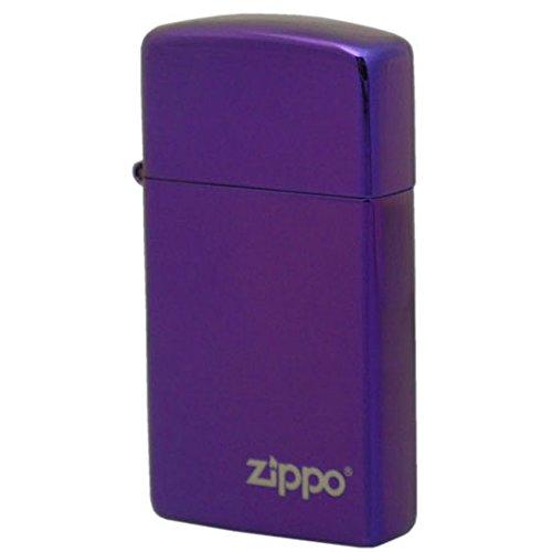 (ジッポー)ZIPPO ライター 2015 COMPLETE LINE COLLECTION 28124ZL Slim Abyss Laser Engrave パープル 紫色 スリム