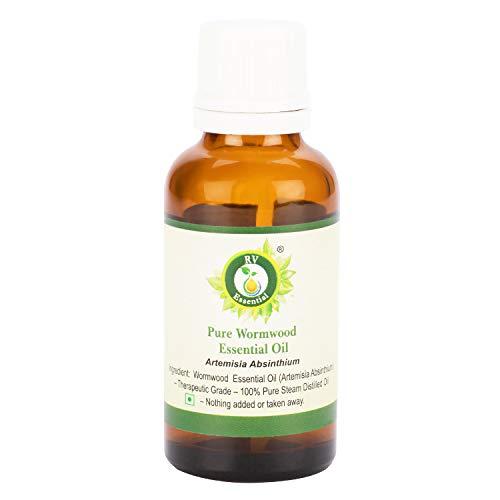 R V Essential Reines Wermut Ätherische Öl 15ml (0.507 Unzen) - Artemisia Absinthium (100% reiner und natürlicher Dampf destilliert) Pure Wormwood Essential Oil