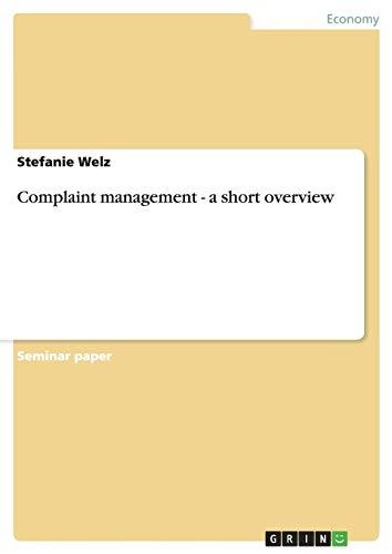 Complaint management - a short overview
