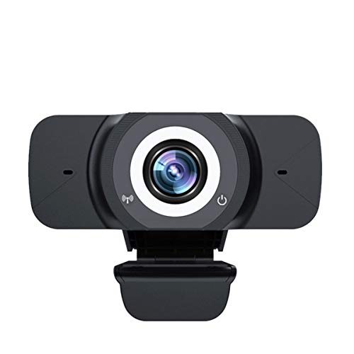 Webcam Full HD 1080P USB Kamera Anschliesen und nutzbar mit eingebautem Mikrofon fur Laptop Desktop mit Videokonferenzen