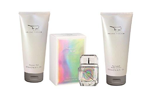 For you! by HELENE FISCHER 3 tlg. XXL Duft & Pflegeset: Shower Gel 200 ml + Body Lotion 200 ml + Eau de Parfum Spray 50 ml