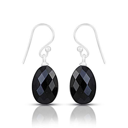 925 Sterling Silver Black Onyx Earrings, Black Gemstone Earring, Black Onyx Earrings, Stone Earrings, Genuine Black Onyx Earrings