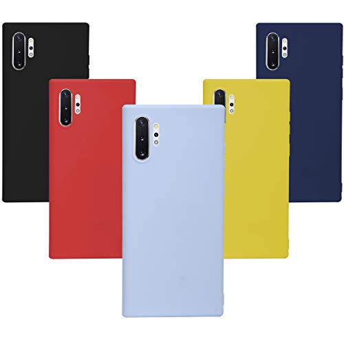 KZIOACSH Morbido Silicone Sottile Morbido TPU Protettivo Custodia Galaxy Note 10 Plus (Silicone)