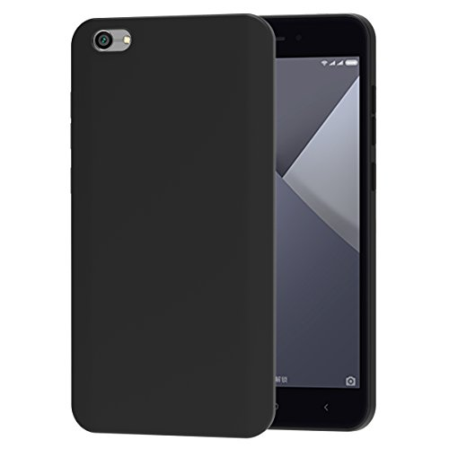 ivoler Hülle für Xiaomi Redmi Note 5A / Xiaomi Redmi Note 5A Prime, Premium Schwarz Tasche Schutzhülle Weiche TPU Silikon Gel Schutzhülle Hülle Cover