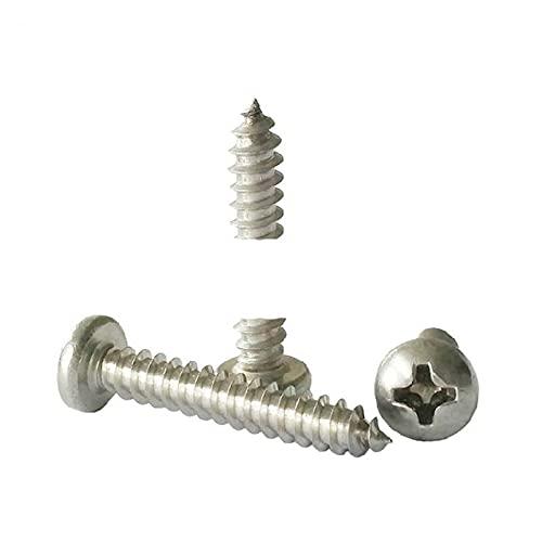 50 unids/lote rosca métrica M3.9x30mm M4.2x25mm M4.8x45mm M5.5x35 304 tornillos autorroscantes de acero inoxidable tornillos de cabeza con tornillos-M4.8,40mm, 50 piezas