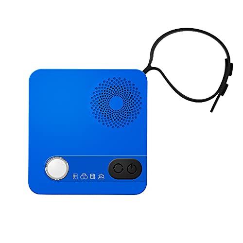 ADFHZB Purificador de Aire Nevera Mini Desodorante esterilizante Generador de ozono Limpieza y Absorbente con 4 Modos para Nevera Caja de Zapatos Coche Casa de Mascotas (Color : Blue)
