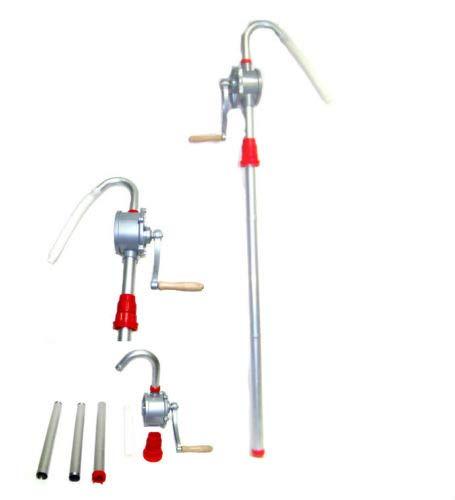 (Best tools) H-D Aluminum Rotary Gas Oil Fuel Hand Pump 55 Gallons Self Priming Dispenser