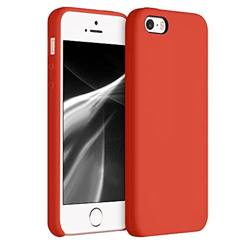 kwmobile Funda Compatible con Apple iPhone SE (1.Gen 2016) / 5 / 5S - Funda Carcasa de TPU para móvil - Cover Trasero en Teja