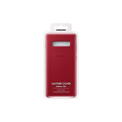 Samsung EF-VG975LREGWW Custodia in Pelle per S10+, Rosso