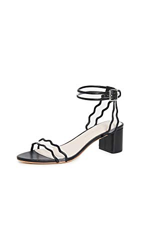Loeffler Randall Women's EMI Block Heel Sandals, Black, 7.5 Medium US