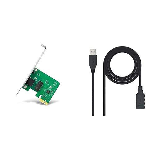 TP-Link TG-3468 Adaptador WiFi Gigabit PCI Express (10/100/1000 Mbps) + NanoCable 10.01.0902-BK...