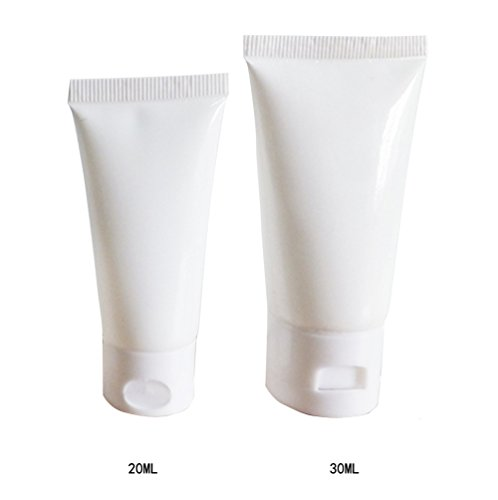 24pcs 30g leer nachfüllbar Flasche Kosmetik Soft Tube mit Flip Cap Behälter Travel Make-up Shampoo Gesichtsreinigung Lotion Flasche (weiß)