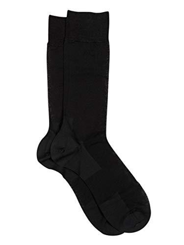 Calcetín Corto Ejecutivo Hombre-Zero Defects- Hilo de Escocia, sin costuras y reforzado | Color Negro - Talla Única