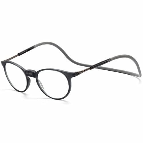 YSDQ Gafas de Lectura magnticas Lentes antirreflectantes Cuelgue El Cuello Bloqueo Lectores Lentes Livianos con Diadema De Silicona Suave De Brazos Ajustables, para Hombres Mujeres